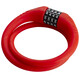 Red Cycling Products High Secure Silicon kabelslot rood